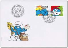 Switzerland_2013_Smurfs_fdc