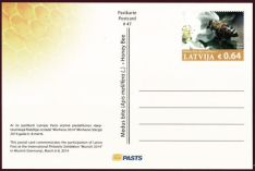 462px-Latvia_2014_Honey_Bee_postcard_obverse
