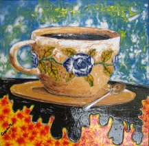 Timor CASIMIRO-Coffee-2007-60-x-61cm-Mixed-Media-on-Plywood